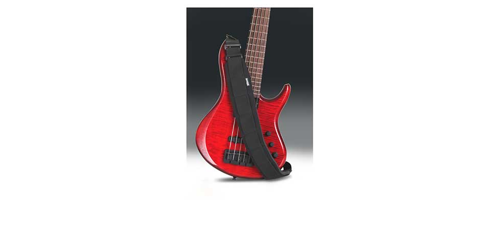 Bass Guitar using a Comfort Strapp